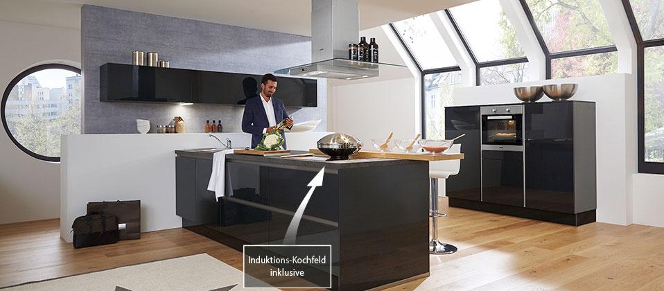 atrium k che mit hohem design anspruch haus der k chen. Black Bedroom Furniture Sets. Home Design Ideas