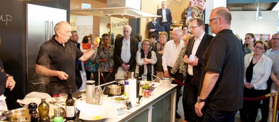 Wormser-Kochteam in der Eventküche des Haus der Küchens beim Cooking Cup 2015