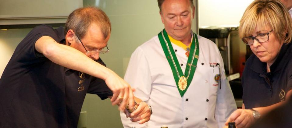 Kochteam in der Eventküche des Haus der Küchens beim Cooking Cup 2015