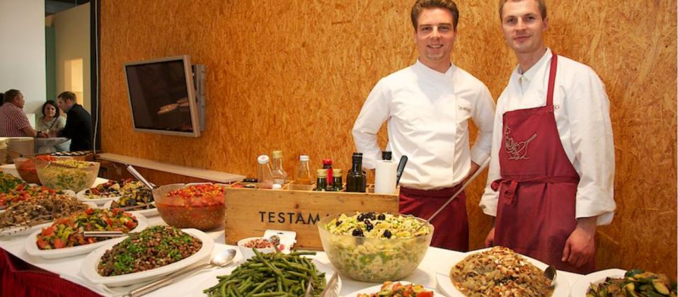 Gourmetbuffet von Sternekoch Jürgen Koch für den Cooking Cup 2015 im Haus der Küchen
